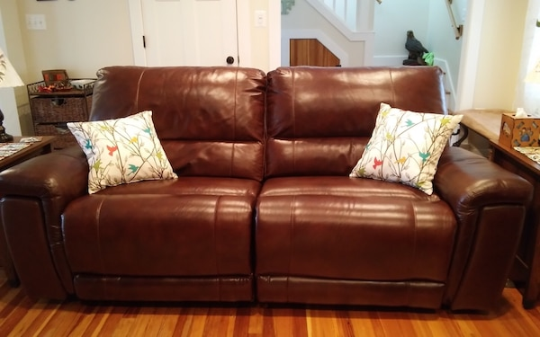 Leather Oversized Reclining Loveseat