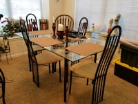 rectangular Dining room table with chairs Denver, 80237