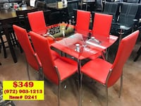 Dining table with chairs brand new (( fast delivery)) Richardson, 75080