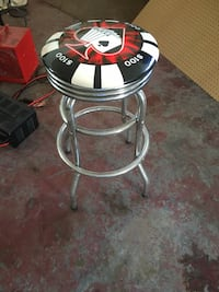 round white and black wooden side table Red Deer, T4P 3W5