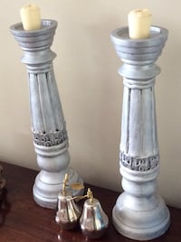 Candle Sticks (2) in silver 517 km