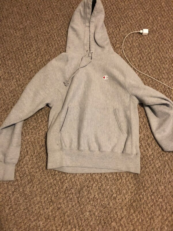 Small Grey champion hoodie