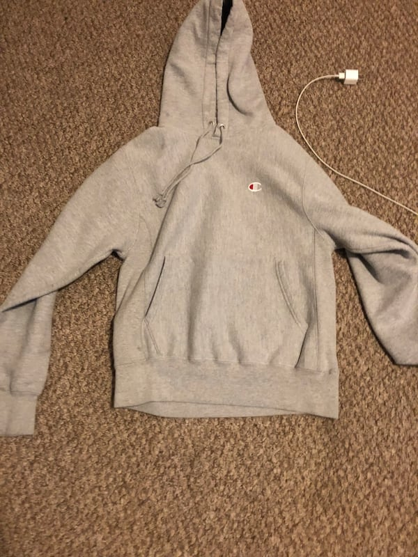 Small Grey champion hoodie  0