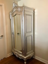 Silver Mahogany Wardrobe with mirror Toronto