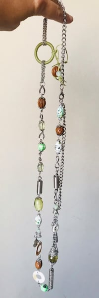 Long summer necklace made in USA Richmond Hill, L4C 3B8
