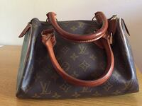 borsa in pelle marrone Louis Vuitton