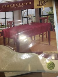Brand new golden table cloth I have 5 pieces. $ 12 each   Brampton, L7A