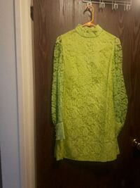 Size 7 lime green lace dress/ great for halloween Red Deer, T4R 1X4
