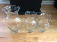 3 vase set large medium and small Whitby, L1N 1W4