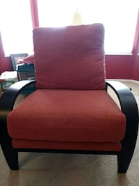 Coral and dark brown fabric decorative chair Valley Park, 63088
