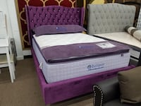 New in box purple velvet queen platform bed frame College Park
