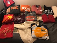 Lot of 10 Athletic Tops Adidas Champion Texas USC Pacers Eagles Superbolw Sz Md/Lg Jurupa Valley, 92509