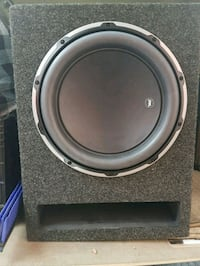 black and gray jl audio subwoofer speaker in box Toronto, M6E 3M6