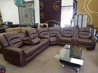 Brand new light brown reclining sectional 47 km