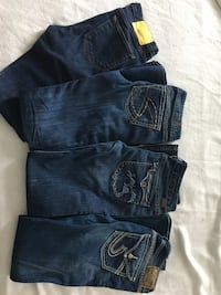 3 silver jeans and 1 wesc Regina, S4X