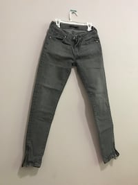 Jeans with 2 zips on the side XS Madison, 35758