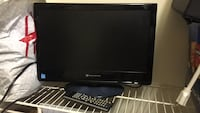 black Samsung flat screen TV with remote Hampton, 23666