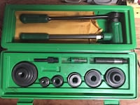 Green Lee ratchet knockout set