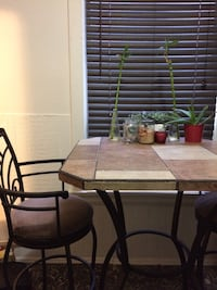square white and beige table