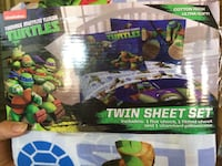 Tmnt twin bed sheets Bell, 90201