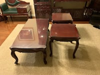 Solid wood sofa and end tables. 4 total. Stafford, 22556