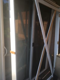 Frosted glass French interior doors white frame