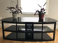 black wooden TV stand with mount Hilliard