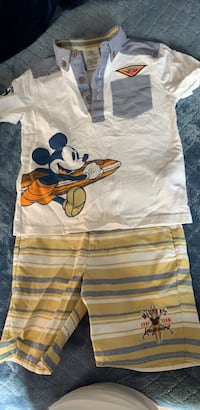 Boy's Disney Store set: shorts and polo! Never worn before! Size 4.
