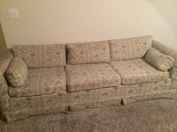 gray and white floral 3-seat sofa Monroe, 30656