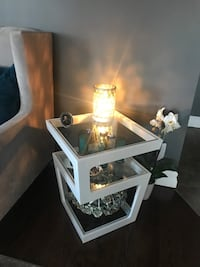 white wooden framed glass top table Guelph, N1E 7A6