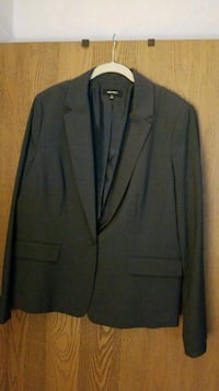 Womens business suit jacket grey Topton
