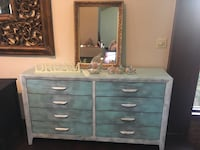 Gray wooden dresser with mirror Panama City, 32401