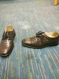 pair of brown leather loafers 687 mi