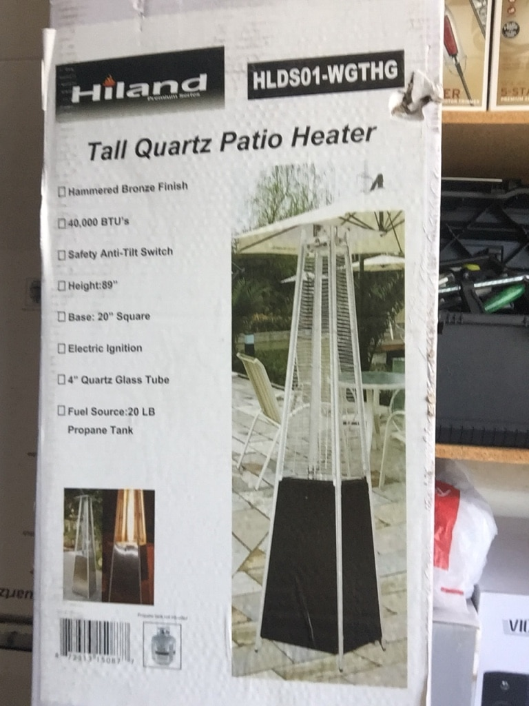 Hiland Tall Quartz Patio Heater Box