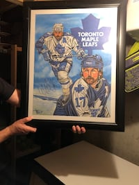 Wendel Clark's animated signed picture. Vaughan, L6A 3E6