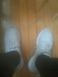 pair of white low-top sneakers nike Hamilton, L8V 2T4