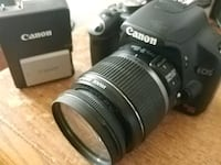 Canon EOS Rebel T1i, battery, charger and lens