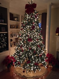 Beautiful prelit 9 foot Christmas with a convenient storage bag!