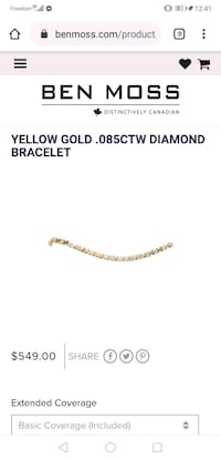 Purfect gift for Valentine's !!!10k yellow gold diamond bracelet Vancouver, V5R 2A2