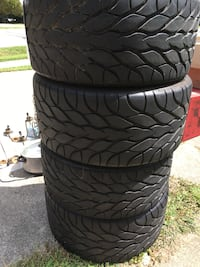 Set of two corvette tires- 18's High Point, 27260