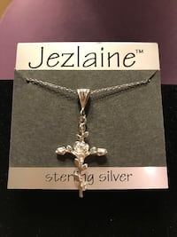 Beautiful!! Sterling Silver Rose Cross Necklace Gainesville, 20155