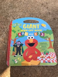 Elmo and and 123 dry erase marker book
