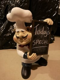 Accent Piece. Rustic Wooden Chef Man with Black/Chalk Board  Mississauga, L5M