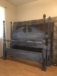 Queen headboard and footboard. Distress look and painted Prairieville, 70769