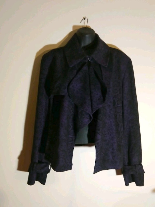 Women's size 16 Blazer purple black Anne Klein 579022d3-d7a0-4072-915d-4df91b1bc826