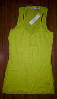 Electric green lace front tank top Toronto, M5A 2N8