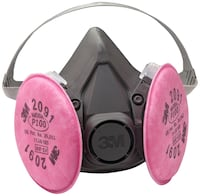 3m Size Large Half face Respirator with # 291 filters (40) left Gretna