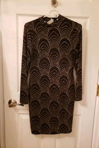 Gold and black sequins dress size small . Saint Andrews, R1A 2V2