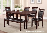 Brand new 6pcs Solid Wood Dining Set Toronto