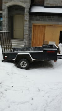 5×8. Utility trailer with ramp